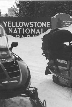 yellowstone in motoslitta